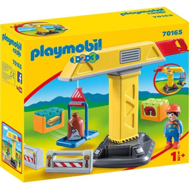 Obrázek produktu Playmobil 70165 Stavební jeřáb (1.2.3)