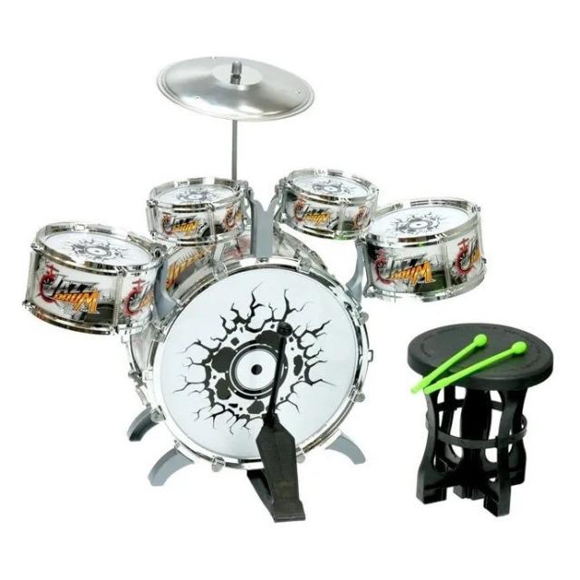 Obrázek produktu Dětská sada bicích Jazz Drum 5ks + činel, stolička a paličky