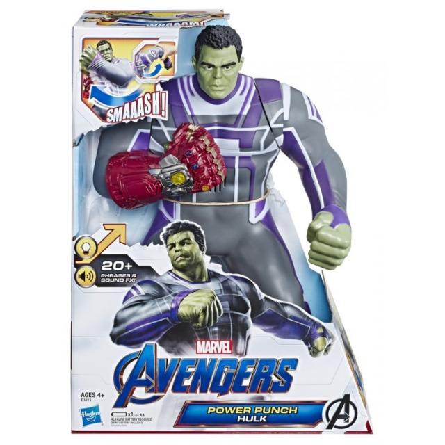 """Obrázek produktu Hasbro Avengers HULK """"Rána pěstí"""" 30cm, zvukové efekty, E3313"""