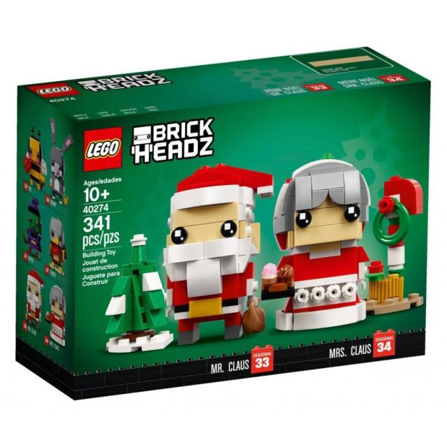 Obrázek produktu LEGO BrickHeadz 40274 Pan a paní Santa Clausovi