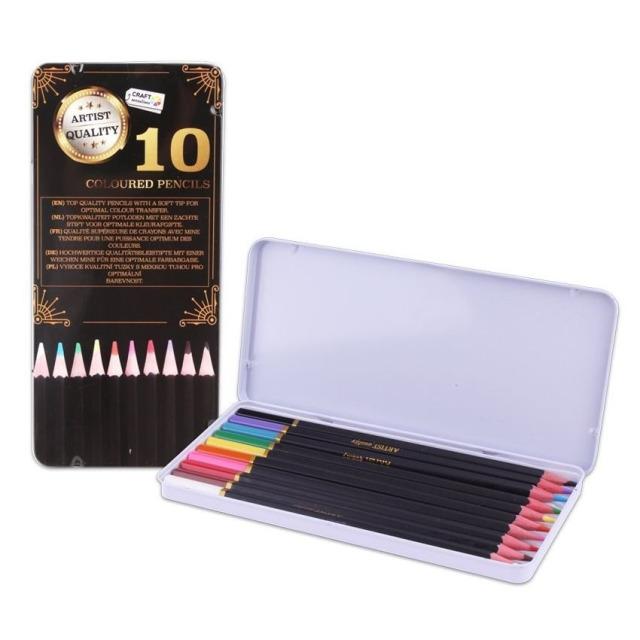 Obrázek produktu Pastelky Exclusive art v plechové krabičce 10 ks