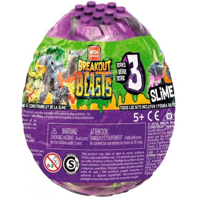 Obrázek produktu Breakout Beasts Vajíčko Drak ve slizu série 3, Mattel GCK31