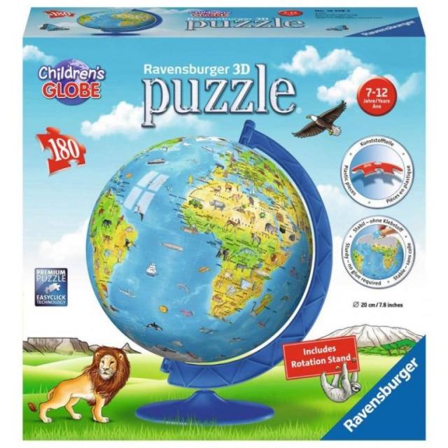 Obrázek produktu Ravensburger 12338 Puzzleball Dětský Globus (anglický) 180 dílků