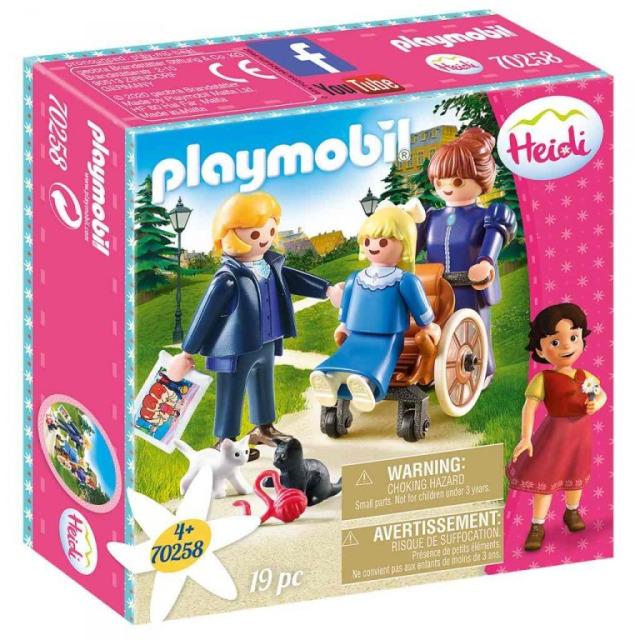 Obrázek produktu Playmobil 70258 Klára s otcem a slečna Rottenmeierová