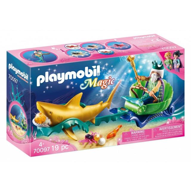 Obrázek produktu Playmobil 70097 Král moří se žraločím kočárem