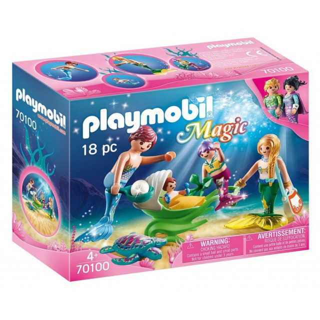 Obrázek produktu Playmobil 70100 Rodina s kočárkem z mušle