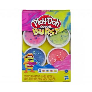 Obrázek 1 produktu Play Doh Barevné balení modelíny růžová, modrá, žlutá, červená, Hasbro E8060