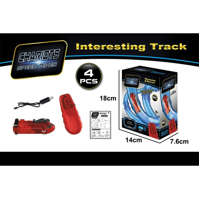 Obrázek produktu Mustar RC auto pro orbitální trubkovou super dráhu červené