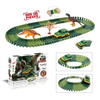 Obrázek 1 produktu Mustar Variabilní dráha s dinosaury 100 dílů