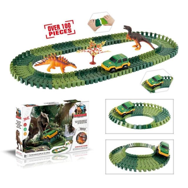 Obrázek produktu Mustar Variabilní dráha s dinosaury 100 dílů