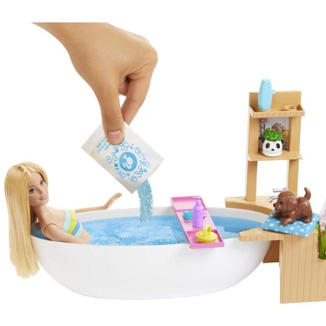 Obrázek produktu Mattel Barbie Wellness panenka v lázních, herní set, GJN32