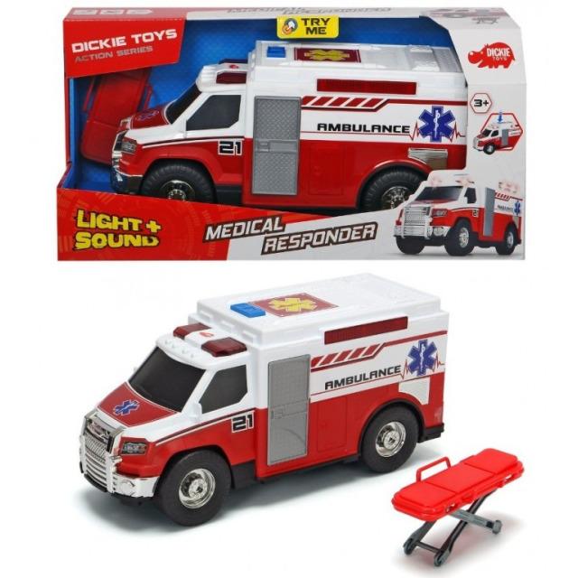 Obrázek produktu Ambulance 30 cm s nosítky, světlo, zvuk, Dickie