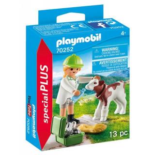 Obrázek 1 produktu Playmobil 70252 Veterinářka s telátkem