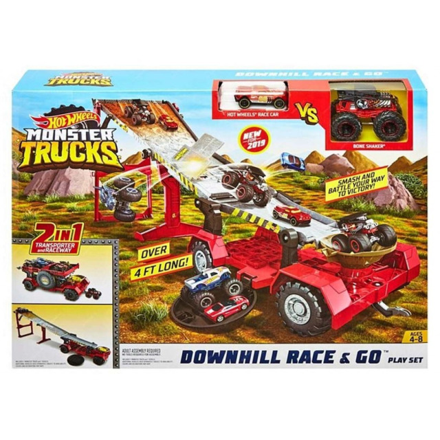 Obrázek produktu Hot Wheels Monster Trucks Závod z kopce, Mattel GFR15
