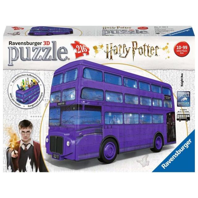 Obrázek produktu Ravensburger 3D Puzzle 11158 Harry Potter Rytířský autobus 216 dílků