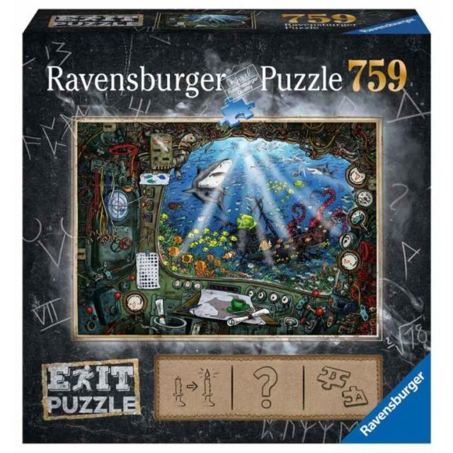 Obrázek produktu Ravensburger 19953 Exit Puzzle: Ponorka 759 dílků