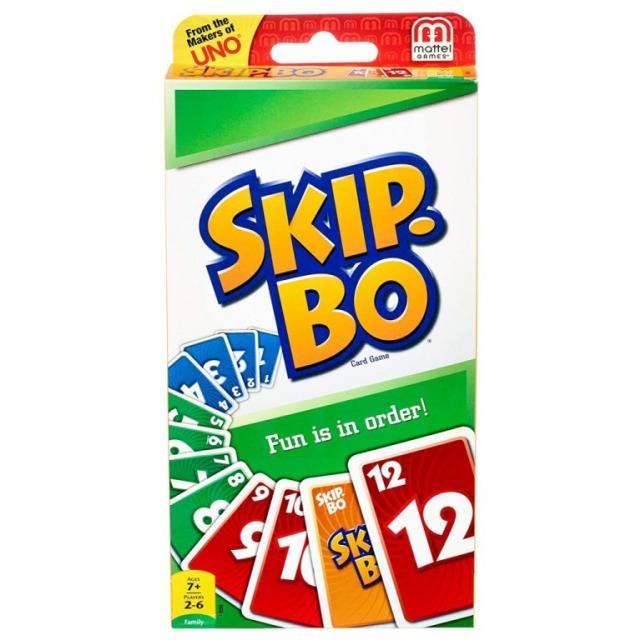 Obrázek produktu Mattel Skip-Bo karetní hra, 52370