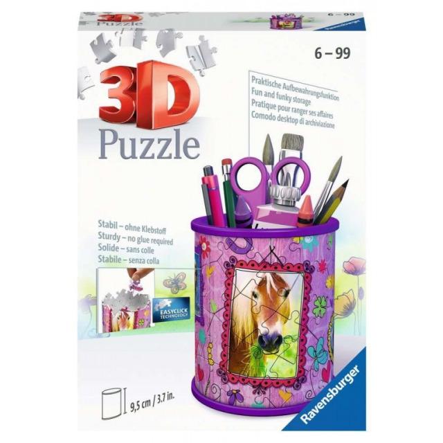Obrázek produktu Ravensburger 11175 Puzzle Stojan na tužky Koně 54 dílků