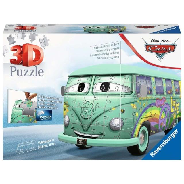 Obrázek produktu Ravensburger 11185 Puzzle 3D Fillmore VW autobus Disney Pixar Cars 162 dílků