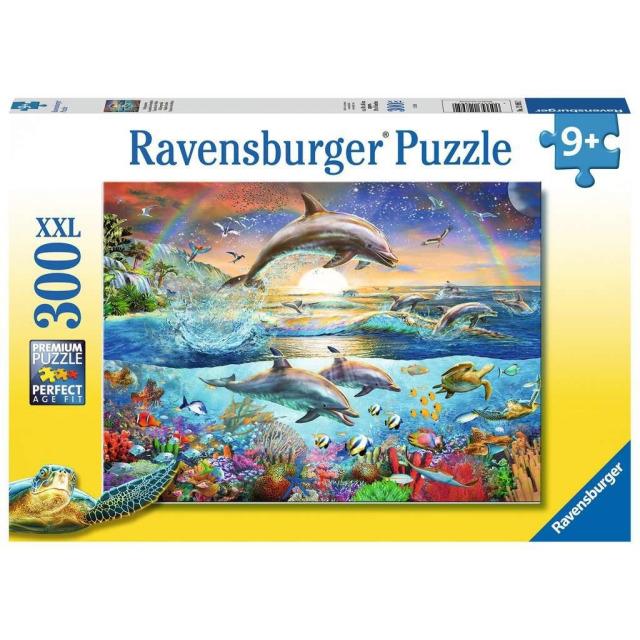 Obrázek produktu Ravensburger 12895 Puzzle Ráj delfínů 300 XXL dílků