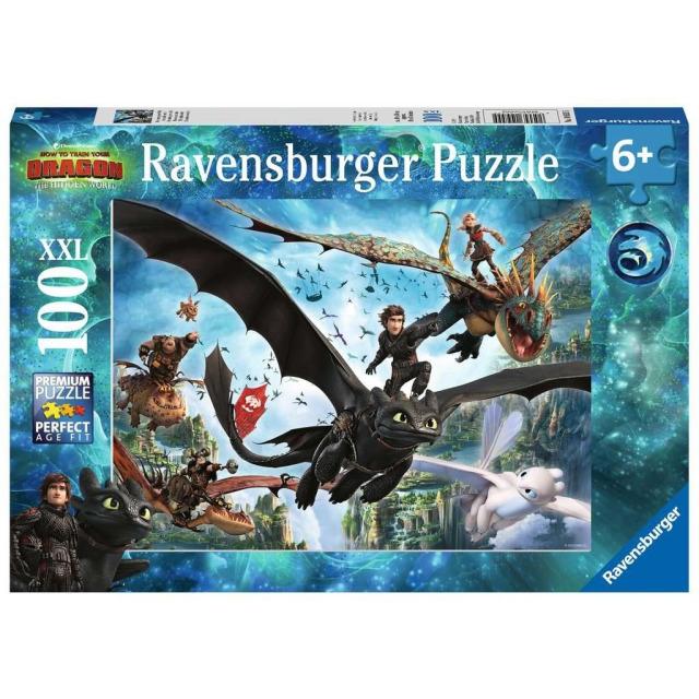 Obrázek produktu Ravensburger 10955 Puzzle Jak vycvičit Draka 3, 100 dílků