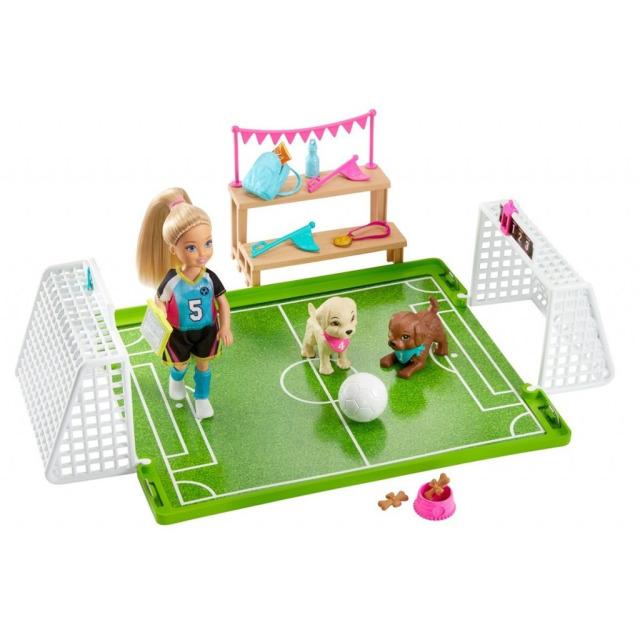 Obrázek produktu Barbie Chelsea fotbalistka herní set, Mattel GHK37