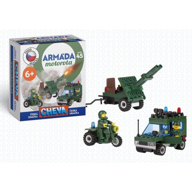 Obrázek produktu CHEVA 45 Armáda Motorota, Jeep vojenský s dělem