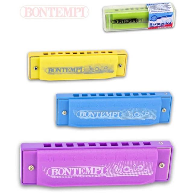 Obrázek produktu Bontempi foukací harmonika kovová zelená