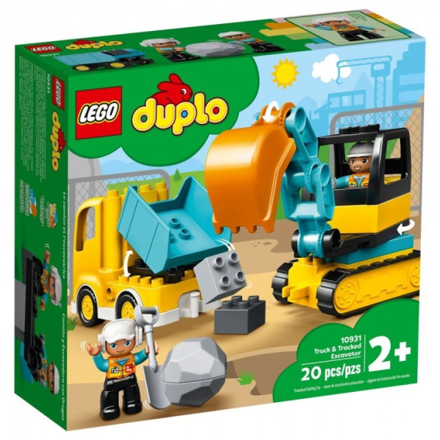 Obrázek produktu LEGO DUPLO 10931 Náklaďák a pásový bagr