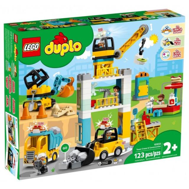 Obrázek produktu LEGO DUPLO 10933 Stavba s věžovým jeřábem