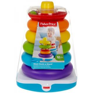 Obrázek 1 produktu Fisher Price Obří kroužky na tyči, Mattel GJW15