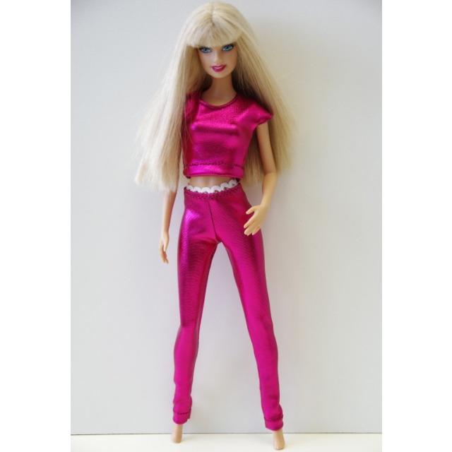 Obrázek produktu LOVEDOLLS Růžové lesklé dlouhé legíny