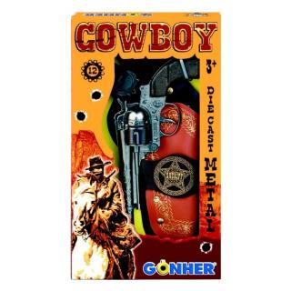 Obrázek 1 produktu Gonher Kovbojská sada - Revolver kovový 12 ran + šerifská hvězda