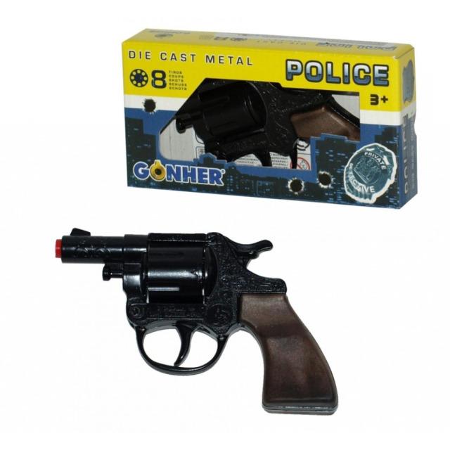 Obrázek produktu Gonher Policejní revolver kovový černý 12 ran