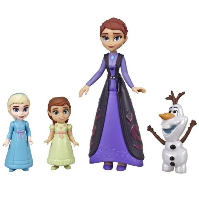 Obrázek produktu Frozen 2 - Ledové Království Mini Figurky Deluxe - Královna Iduna s Annou, Elsou a Olafem