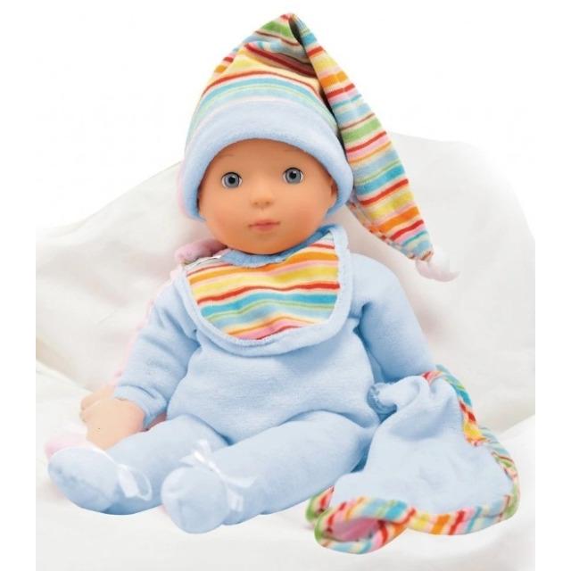 Obrázek produktu Panenka Bambolina miminko v modrém pyžámku 33cm