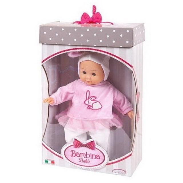 Obrázek produktu Panenka Bambolina miminko v růžovém pyžámku se zajíčkem 36cm