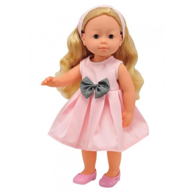 Obrázek produktu Panenka Bambolina v růžových šatech s mašlí 42cm