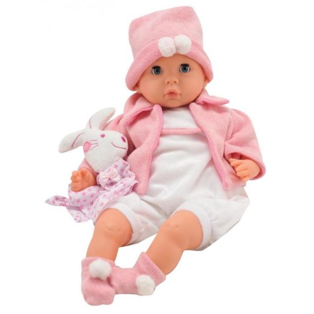 Obrázek produktu Panenka Bambolina miminko v růžovém pyžámku se zvířátkem 48cm