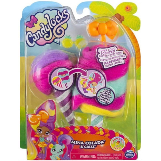Obrázek produktu CANDYLOCKS Voňavá panenka se zvířátkem Mina Colada a Grizz