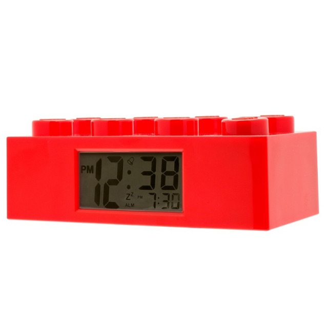 Obrázek produktu LEGO Brick - hodiny s budíkem, červené