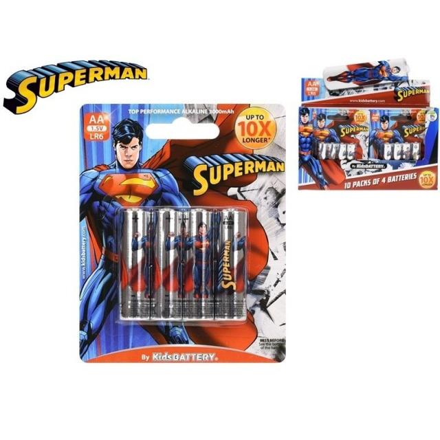 Obrázek produktu Superman baterie AA/LR6 Alkaline 1,5V 4ks, Nickelodeon