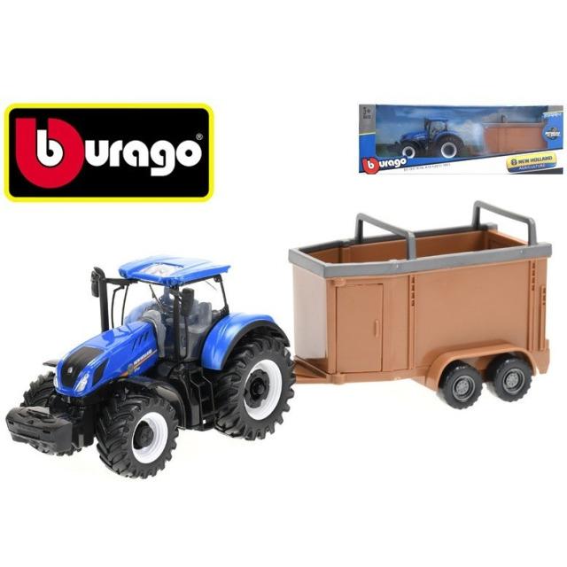 Obrázek produktu Bburago New Holland T3.315 traktor 12cm s přívěsem na setrvačník