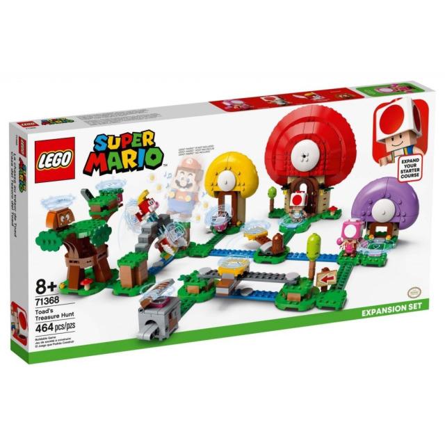 Obrázek produktu LEGO SUPER MARIO 71368 Toadův lov pokladů – rozšiřující set