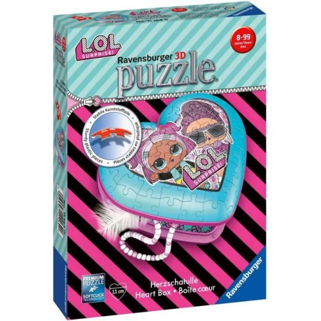 Obrázek produktu 3D Puzzle Srdce L.O.L. 54 dílků, Ravensburger