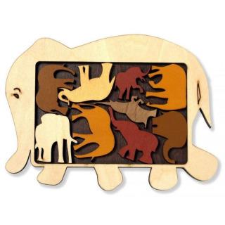 Obrázek 1 produktu RECENTTOYS Elephant Parade dřevěný hlavolam