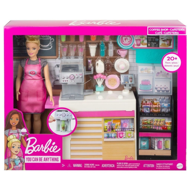 Obrázek produktu Barbie Kavárna s panenkou, Mattel GMW03