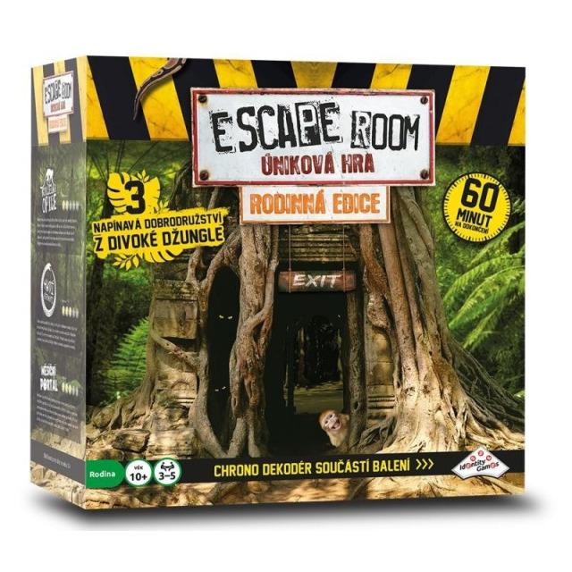 Obrázek produktu ESCAPE ROOM úniková hra Rodinná edice 3 scénáře