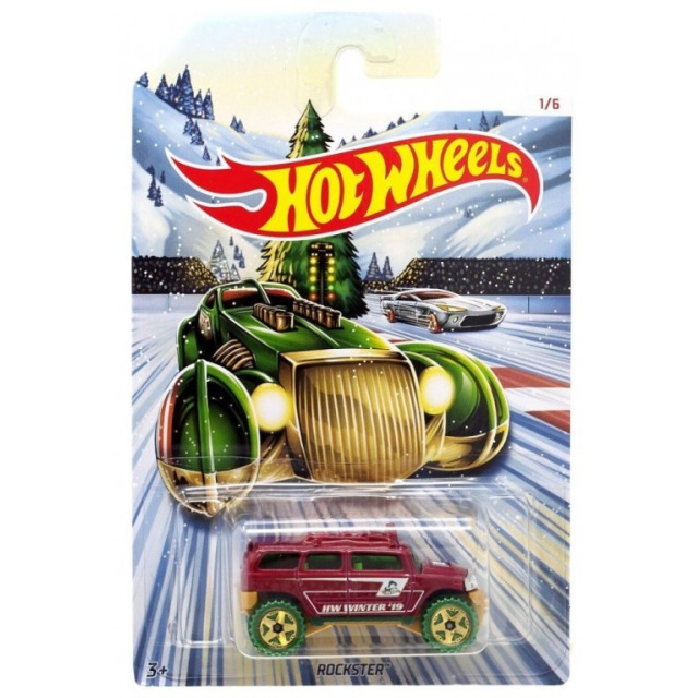 Obrázek produktu Hot Wheels Kovová autíčka Holiday Hot Rods Rockster, Mattel GBC61