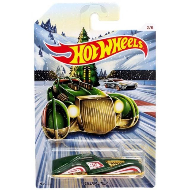 Obrázek produktu Hot Wheels Kovová autíčka Holiday Hot Rods Screamliner, Mattel GBC62